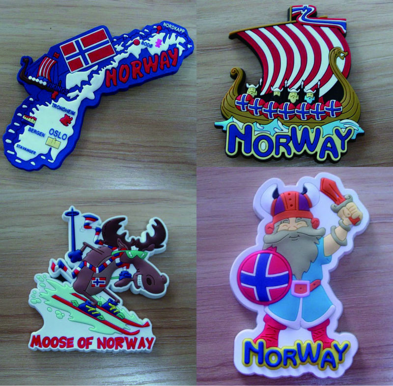 Moose design Rubber magnet For Norway souvenirs