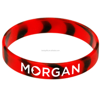 Nice designed colorful custom made silicone bracelet glow in the dark wristband