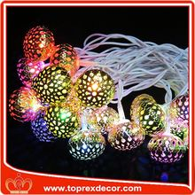 Lighting string embroidered beaded christmas ornaments