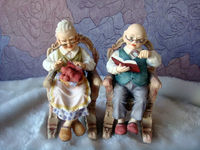 Customized old couple human figure,High Quality Plastic Human Figure