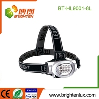 Factory Custom Made AAA Battery Used 8 led caving headlamps