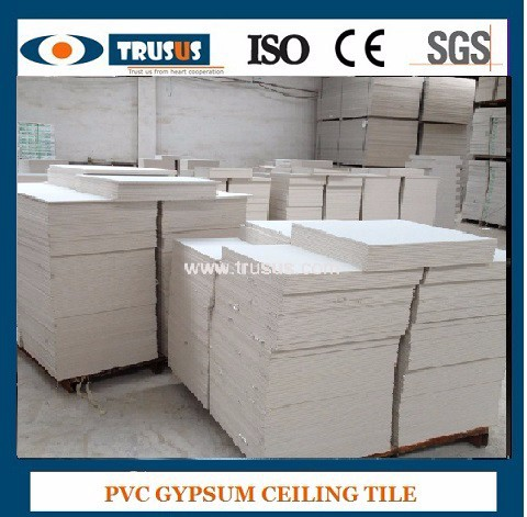 2015 High Grade Made-In-China Vinyl Faced Ceiling Gypsum Board Price