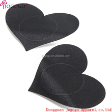 Women Sexy Seamless Disposable Heart Satin Fabric Nipple Covers