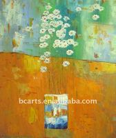 hot selling abstract vase single flower painting