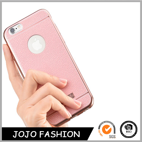 Soft leather pink phone case cell phone case factory