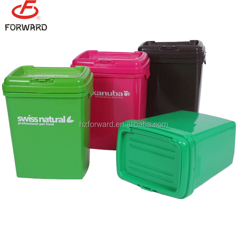 pet food storage box storage container With hinged lid