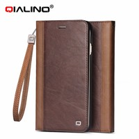 QIALINO Extra Slim High Quality Stand Leather Wallet Case For Apple For Iphone 6