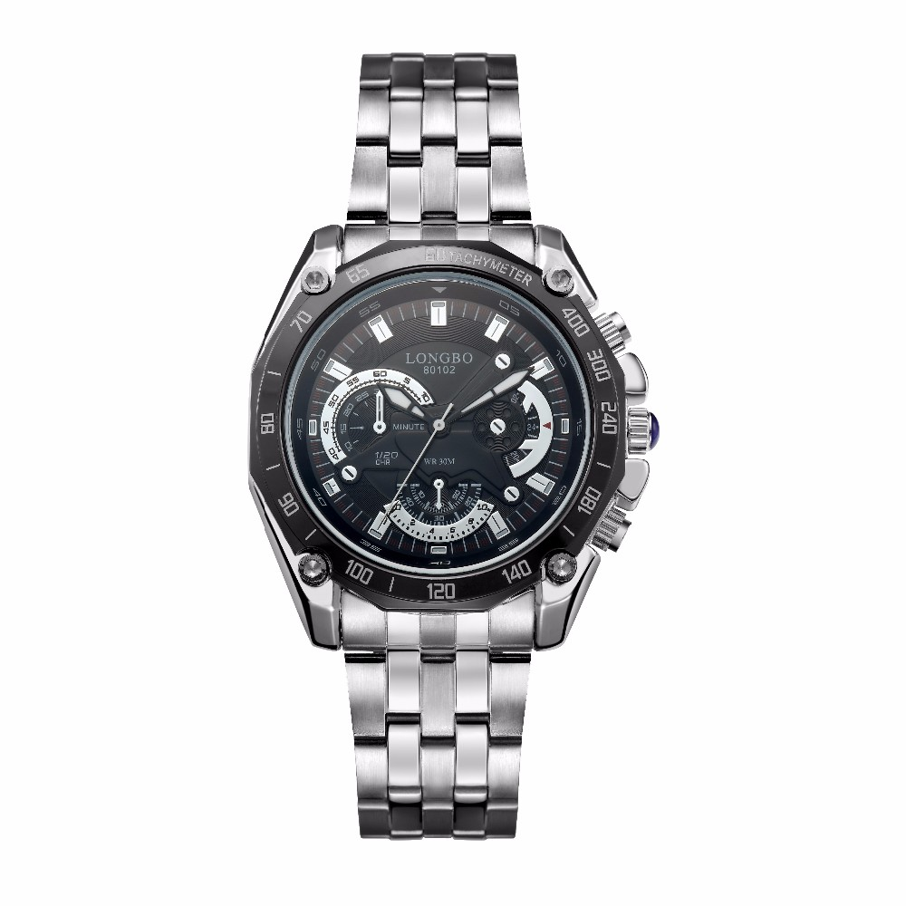 longbo watches stainless steel band sport watches for