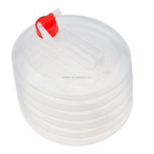 2016 High Quality Cheap 10L 2.64 Gallon Foldable LDPE Pail for Water Storage