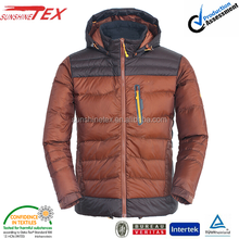 Western shiny winter thick down jacket for men