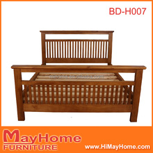 Australia style durable high quality pine wood king size bed