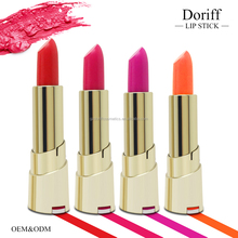 Lipstick cosmetics with golden container