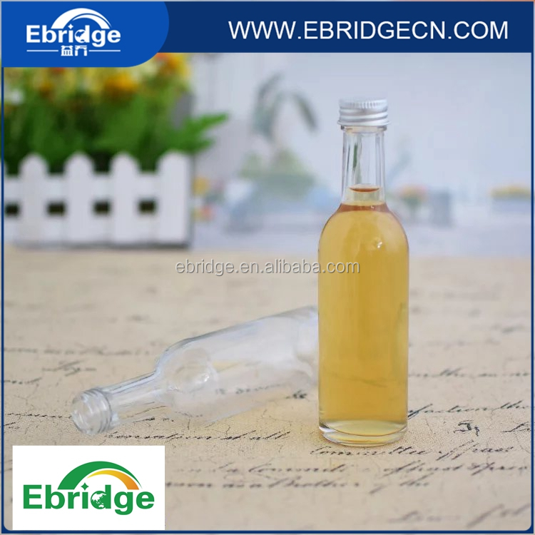 50ml 100ml mini glass liquor alcohol bottle