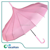 Pink Polk Dot Pagoda umbrella