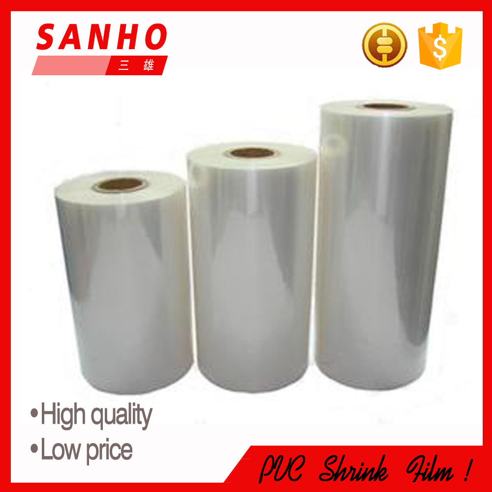 Super clear transparent soft PVC shrink film for packaging and printing