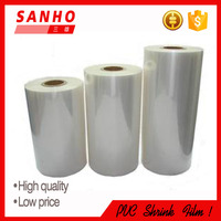 plastic packaging material water proof soft flexible attractive shrinkable pvc shrink sleeve film in roll