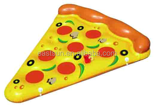 New Inflatable Pizza slice shape Float inflatable swimming pool mattress