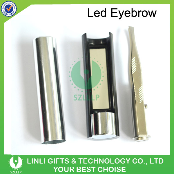 Led Light Eyebrow Tweezers For Convenient Makeup Tools