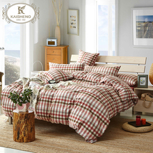 Luxury Home Textile Stone Washed Cotton 4pcs Bedding Set Bed Linen