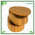 2 tier kitchen bamboo salt box