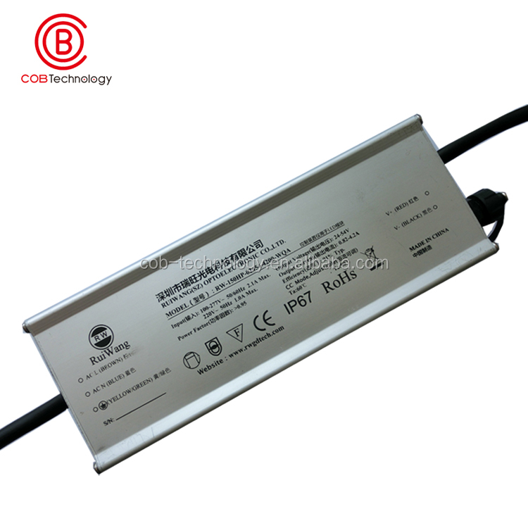 150 watt cob led driver high quality power supply waterproof IP67 dongguan manufacturer led parts