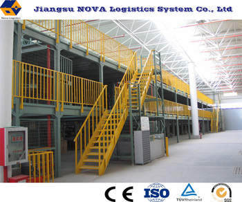 Multi-layer prefabricated metal garret racking steel loft from Nanjing