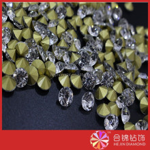 Wholesale blingbling point back glass beads rhinestone crystal for jewlery