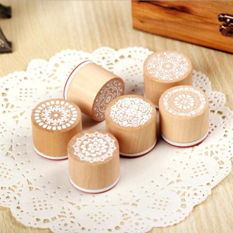 Carimbos de borracha de madeira bonito caixas de flores personalizado carimbo de borracha
