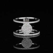 New Model White Gold Plated 925 Silver Wedding Ring MJCR021