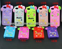hello kitty 3D animal silicone phone case