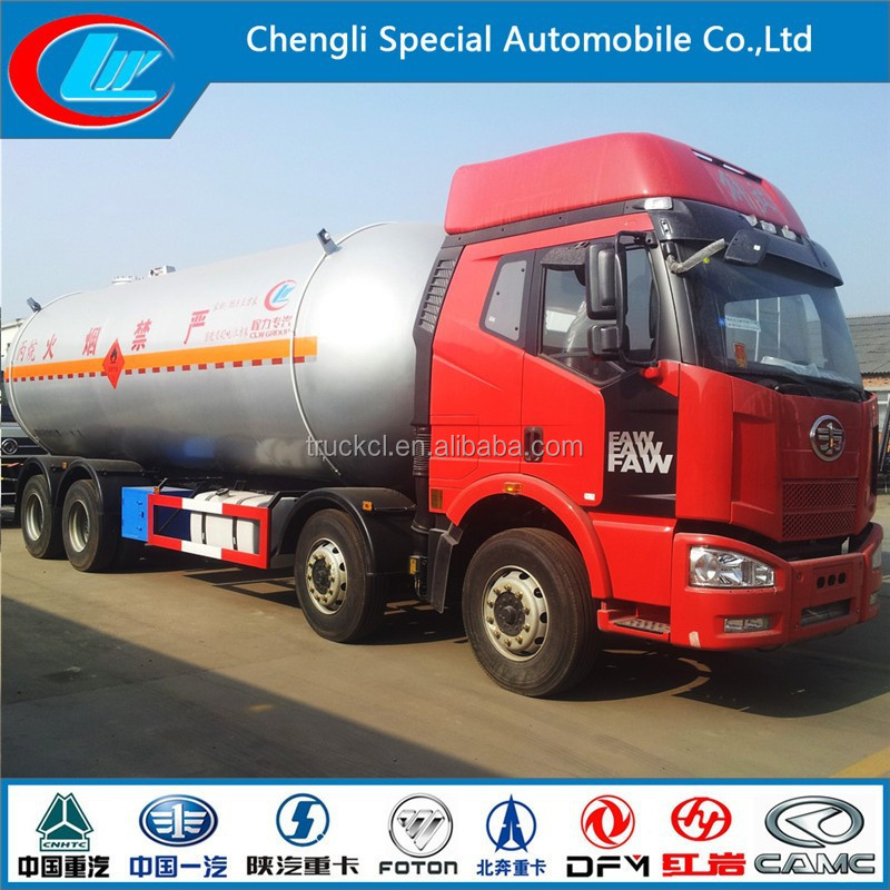 New FAW 350hp 8X4 35500liter lpg tank truck for sale