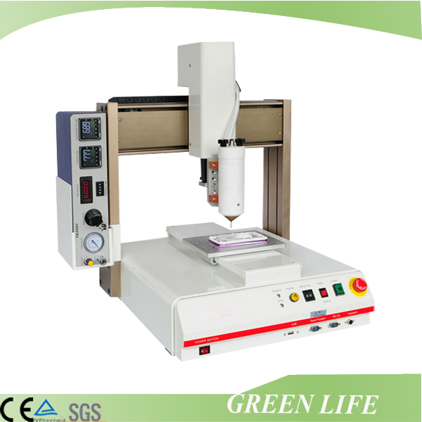 Auto parts sealing usage desktop 3 axis automatic gluing machine for mobile phone shell