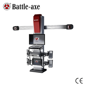 Battle-Axe 3D car wheel alignment with double screen