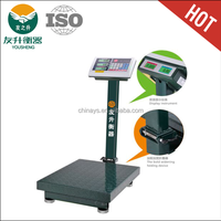 Big font tcs scale type 1000kg heavy duty electronic platform weighing scale