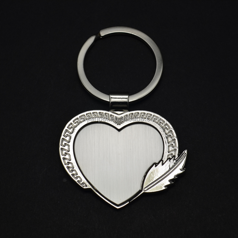 Heart Shape Blank Keyring Stock