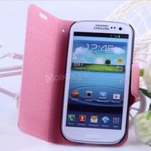 Good quality beauty leather wallet case for samsung galaxy s3 leather skin case