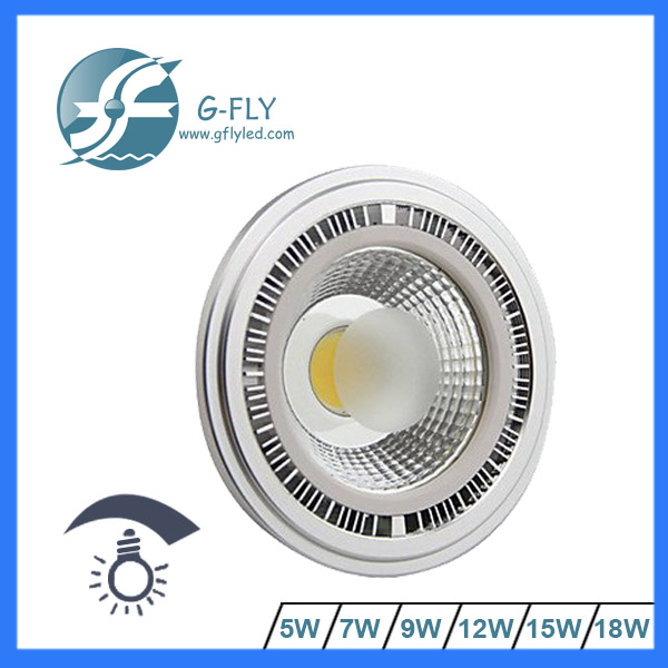 free sample AR111 LED dimmable 15 Watt GX53/Gu10 12V