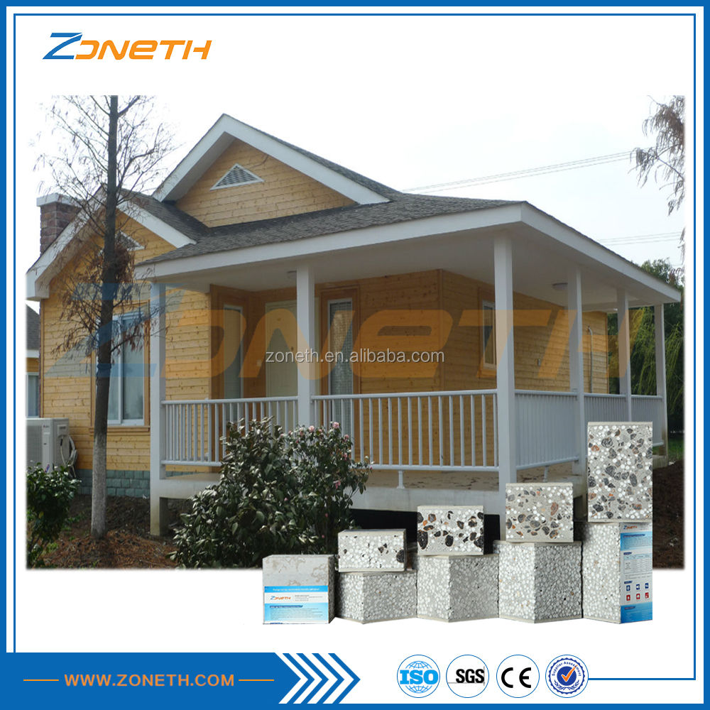 Zoneth comfortable sandwich light prefab villa from factory