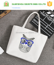 Wholesale promotional hand made canvas shopping bag,canvas tote bag