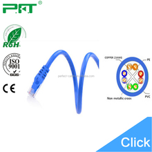 1M/2M/3M or 20M Flat Patch Cord UTP/FTP/SFTP CAT6 cable cca conductor