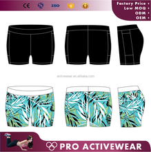 Women Dry fit tight gym full sublimated polyester spandex colorful outdoor compression shorts