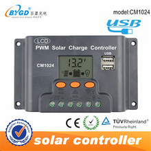 10a 12/24v intelligent solar battery charge controller with lcd and usb