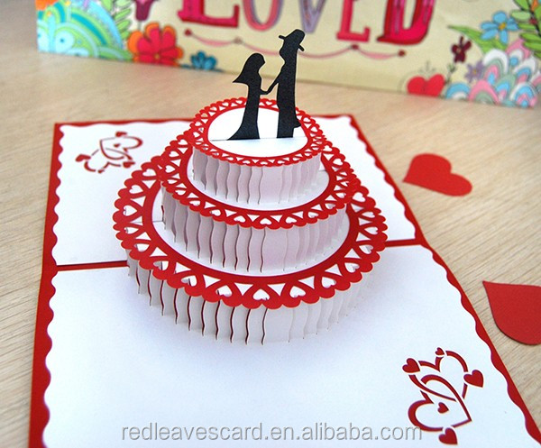 Sweet Heart bride&groom stadium cards 3d pop up greeting cards