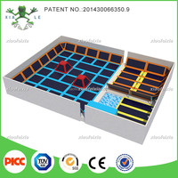 big indoor trampoline amusement park with funny jump shoes