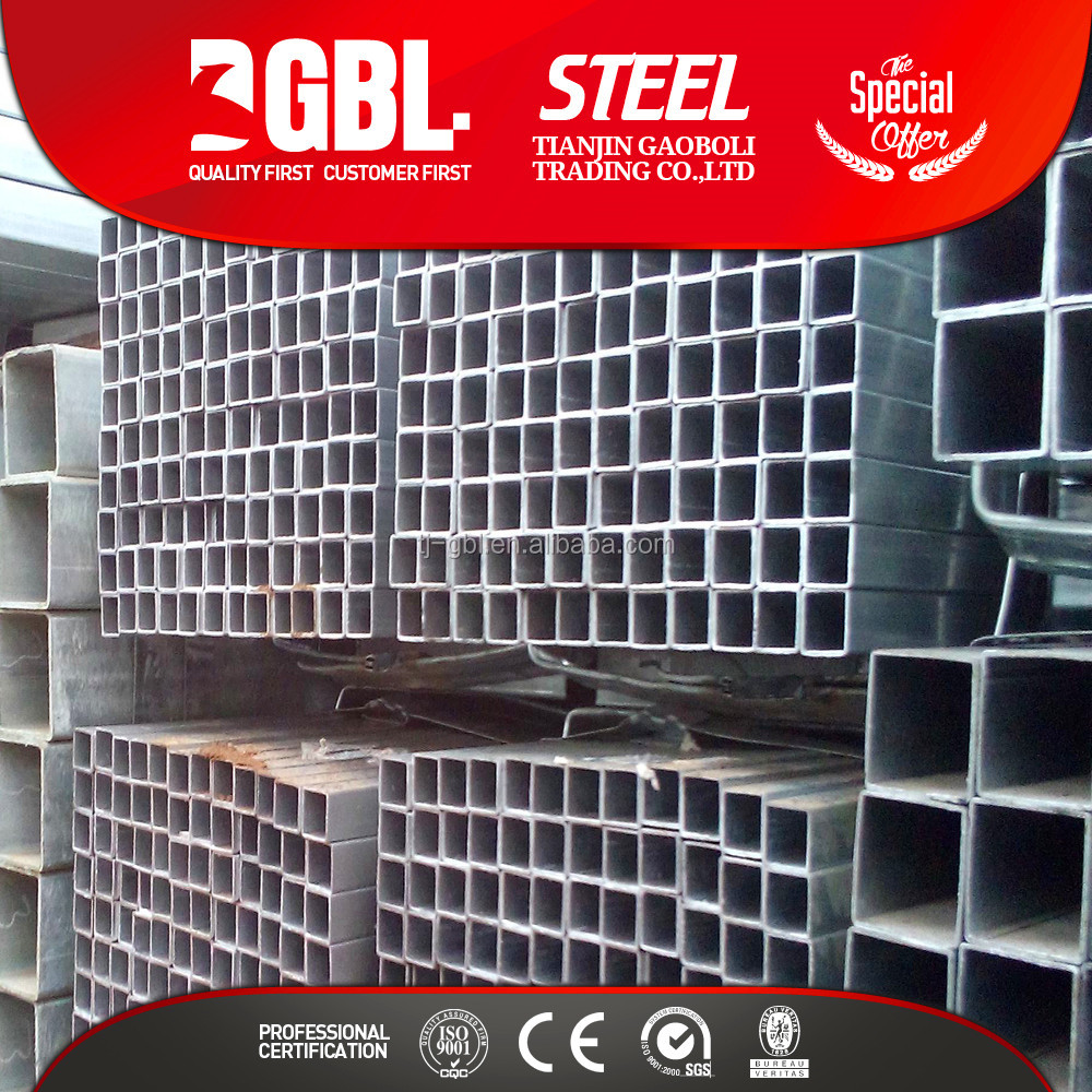 widely used HDG GI square electrical conduit steel pipe
