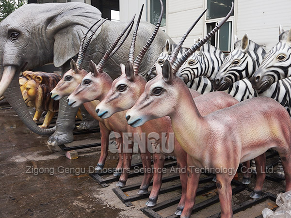 Decoration Antelope Real Size Animal Model