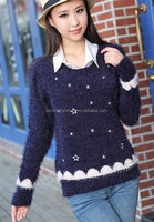 Star embroidered sweater female starlet hedging sweater