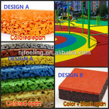 Rubber Playground, Kids Play Area Rubber Flooring -FN-D150537