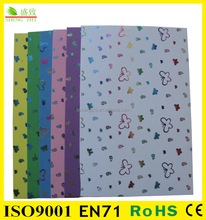 SGS&EN71 Approved Stationery set printed eva polyethylene foam sheet for craft work