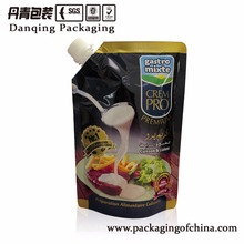 Tomato ketchup packaging bag with doypack nozzle pouch for refillable Y0576